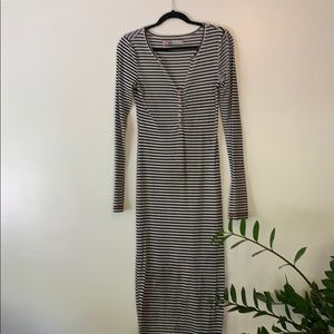 Free People FP Beach ribbed  maxi, striped XS